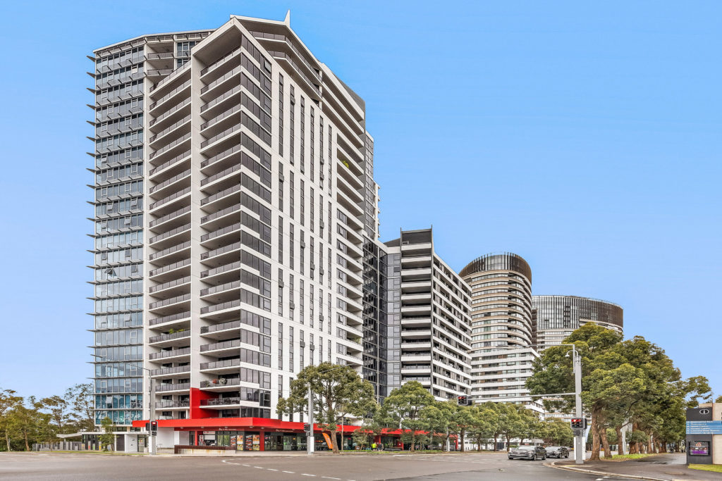 Image of apartment building in Sydney Olympic Park